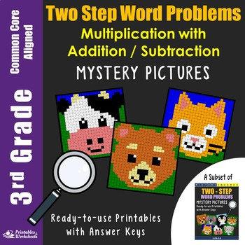 3rd Grade Two Step Word Problems - Multiplication with Addition/Subtraction