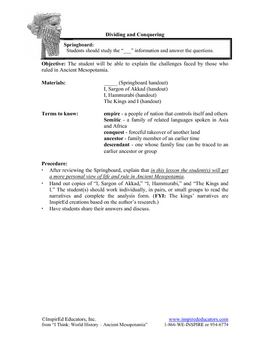 4101-5 Ancient Mesopotamian Rulers - Sargon and Hammurabi