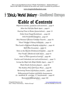 4108-11 Growth of Medieval Towns Internet Scavenger Hunt