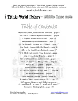 4109-6 Contributions of the Muslim Empire Rotation Lesson