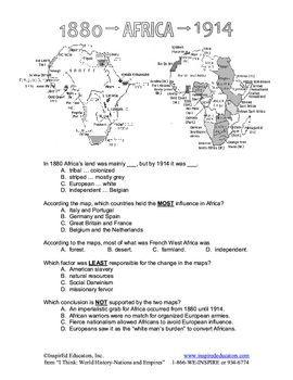 4112-8 Scramble for Africa Research and Jeopardy Game