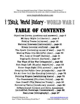 4113-13 World War I Storyboard Project