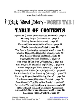 4113-2 World War I Alliances Lesson