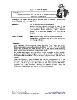 4115-9 U.S. Contributions in World War II