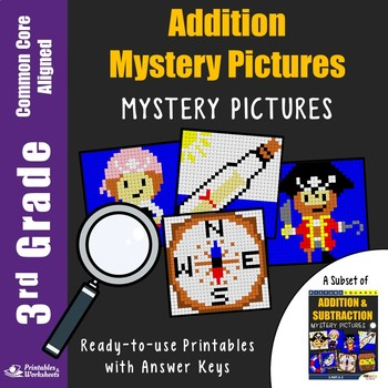 3rd Grade Addition Worksheets Mystery Pictures