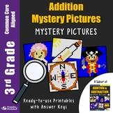 Addition Worksheets 3rd Grade Math Coloring Pages, Mystery Pictures