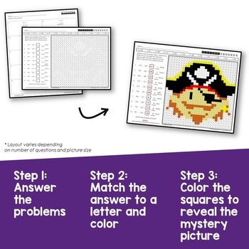 3rd Grade Subtraction Worksheets Mystery Pictures