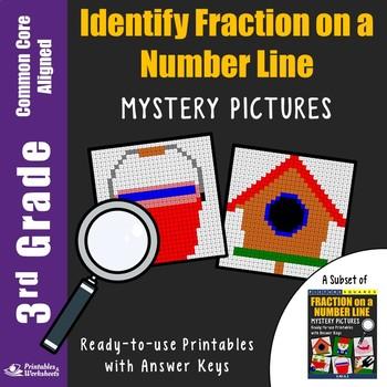 3rd Grade Identify Fraction on a Number Line
