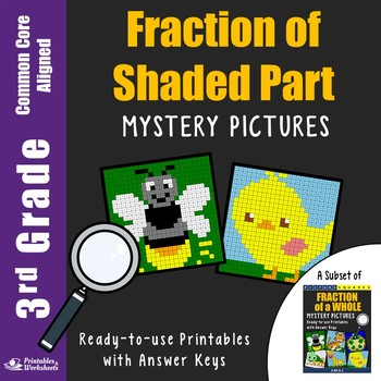 Math Sub Plans 3rd Grade Fraction Shaded and Unshaded Parts Worksheets