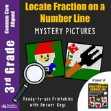 Locating Fractions On A Number Line 3rd Grade Math Drills Worksheets