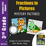 Fraction Worksheets for 3rd Grade, Fraction With Pictures Matching