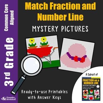 3rd Grade Match Fraction and Number Line