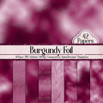42 Burgundy Luxury Metallic Foil Texture Papers