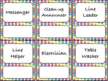 42 Classroom Jobs (C.D. Aligned) Colored Pencil Background