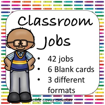 42 Classroom Jobs (C.D. Aligned) Crayon Background