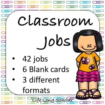 42 Classroom Jobs (C.D. Aligned) Paperclips Background
