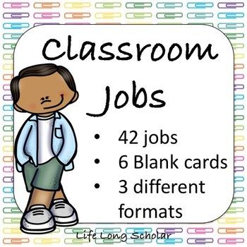 42 Classroom Jobs (C.D. Aligned) Pushpins Background