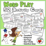 WordPlay 52 Task Cards – Bell Ringer, Substitutes, Transitions, Advisory