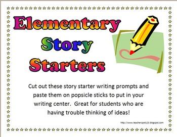 42 Elementary Story Starters For Writing By Teacher Spot S