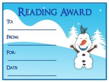 42 Frozen Award Certificates - Colorful & Fun Rewards - 6 Types 7 Styles