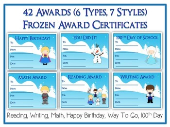 42 Frozen Award Certificates - Colorful & Fun Rewards - 6