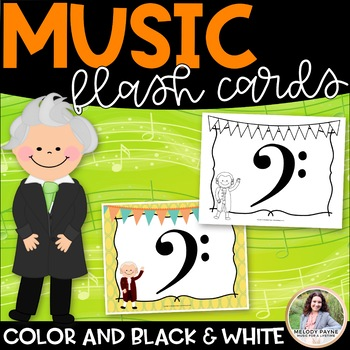 Music Symbol Flash Cards {42 Giant 8.5×11 Color & Ink-Friendly Signs}