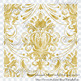 42 Gold Foil Seamless Damask Ornament Transparent Overlays