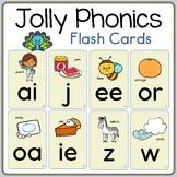 Alphabet & 42 Jolly Phonics Flash Cards Set; Long Vowels,