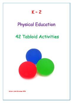 Tabloid Acitivites for Classroom and Physical Education Teachers (42 Printables)