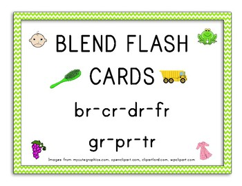 Blend Flashcards Worksheets & Teaching Resources | TpT