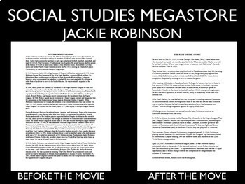 The Jackie Robinson Story - 42 Movie Guide - Short Version - Black History