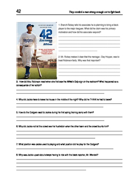 42  (Jackie Robinson) Movie Guide