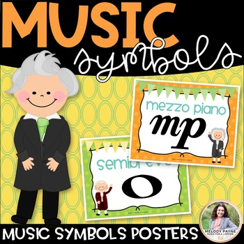Music Symbol Posters {42 8.5×11} {Color & BW, American & International Terms}