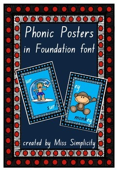 41 australian PHONIC posters charts in FOUNDATION FONT