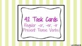 42 Regular Present Tense Verb Task Cards