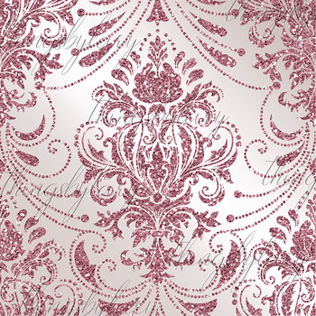 42 Rose Gold Glitter Seamless Damask Ornament Overlays PNG