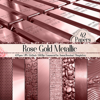 42 Rose Gold Luxury Metallic Texture Papers