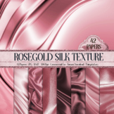 42 Rosegold Luxury Silk Satin Cloth Texture Papers