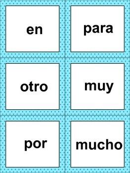 42 Spanish Sight Word Flashcards