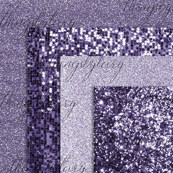 42 Ultra Violet Glitter and Sequin Digital Papers