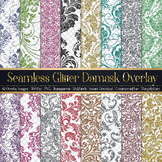 42 Various Glitter Seamless Damask Transparent Overlay Images