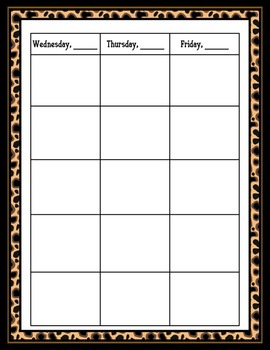 Lesson Plan Book, 42 Weeks  - Animal Print Theme - Just click the print button!