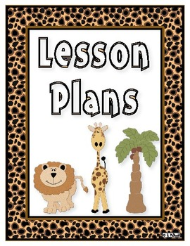 Lesson Plan Book, 42 Weeks  - Animal Print Theme - Just cl