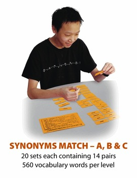 Synonyms C Match Manipulatives & Task Cards
