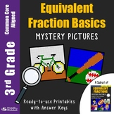 Color by Number Math 3rd Grade Equivalent Fraction Activity Mystery Pictures