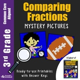 Comparing Fractions 3rd Grade Review Math Mystery Pictures