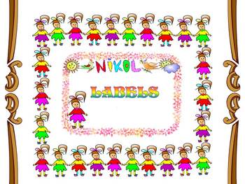 Frames - Labels - Girls - Clip Art - Personal or Commercial Use
