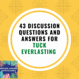 Tuck Everlasting - 43 Discussion Questions AND Answers