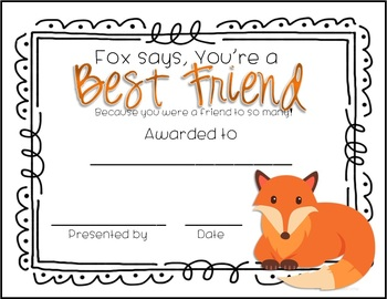 43 EDITABLE End of School Year What Does the Fox Say Awards