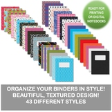 43 Editable Binder Covers & Spines (for print or digital use)